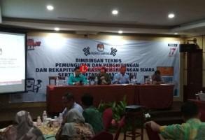 KPU Gelar Bimtek Penghitungan Suara Pemilu 2019
