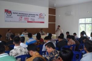 KPU Gelar Rakor Bersama PPK Se-Kabupaten Way Kanan