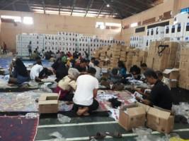 KPU Lampung Barat Percepat ProsesPelipatan Surat suara