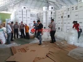 KPU Lampung Pastikan Logistik Pemilu Sampai di PPK Tepat Waktu