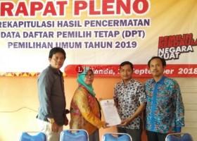 KPU Lamsel Tetapkan DPTHP 720.217 Pemilih