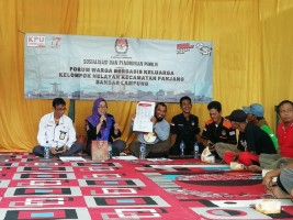 KPU Sosialisasi Pemilu 2019 ke Nelayan di Panjang