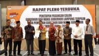 KPU Tetapkan Arinal-Nunik Gubernur dan Wakil Gubernur Lampung Terpilih