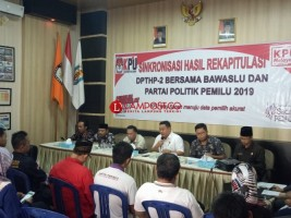KPU Way Kanan Laksanakan Sinkronisasi DPTHP