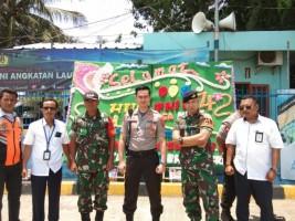 KSKP Bakauheni Beri Kejutan Nasi Tumpeng ke TNI