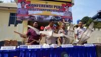 KSKP Bakauheni Gagalkan Penyelundupan Ratusan Kulit Ular