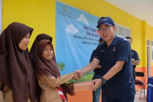 KTB Bantu Perbaikan Sarana Pendidikan di Pesisir Lamsel