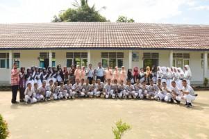 Kunjungi SMP Angkasa Lanud, Danlanud Pangeran M Bunyamin Beri Motivasi Siswa