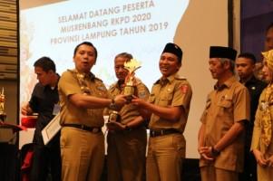 Lambar Raih Penghargaan Terbaik PPD se-Lampung