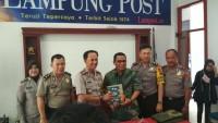 LAMPOST TV:Kapolresta Bandar Lampung Sambangi Lampung Post