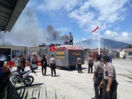 LAMPOST TV:Mapolres Lamsel Ludes Terbakar