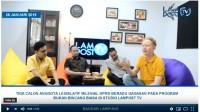 Lampost TV : Tiga Caleg Milenial Adu Gagasan Rebut Suara Pileg 2019