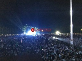 Lampung Bersalawat,Ribuan WargaPenuhi Lapangan Korpri