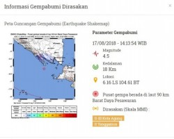 Lampung Diguncang Gempa, BMKG: Tidak Berpotensi Tsunami