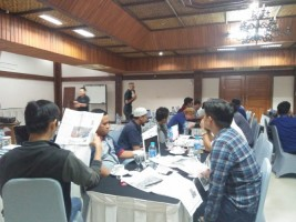 Lampung Post Adakan Training Infografis