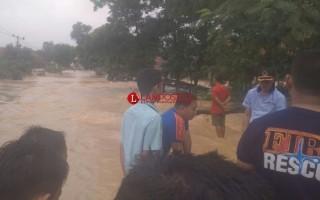 Lamteng Diterjang Banjir Sejumlah Akses Terputus dan Puluhan Rumah Terendam