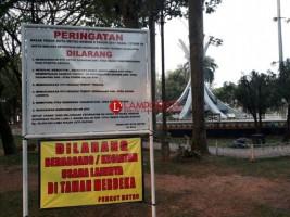 Larangan Berjualan di RTH Metro Diabaikan Pedagang