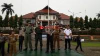 Linmas Tanggamus Siap Bantu Jaga Ketertiban di TPS