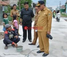 Loekman Minta Rigid Beton di Bandarjaya Timur Diperbaiki