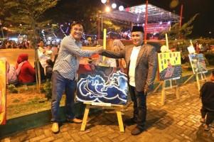Lukisan Plt. Bupati Lampung Selatan Dibeli Inspekturkab Rp2 Juta