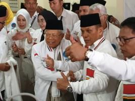 Ma'ruf Amin Berharap Partai Pengusung dan Sukarelawan Maksimalkan Potensi Suara