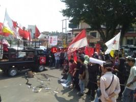 Mahasiswa Demo Soal Penggusuran Pasar Griya Sukarame, Ini Tuntutannya