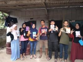 Mahasiswa KKN Unila Bangun 15 Lamban Baca di Lampung Barat