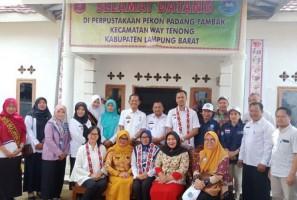 Masuk Lima Besar, Tim Provinsi Lakukan Penilaian kepada Perpusatakan Pekon Padangtambak