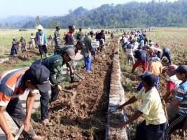 Masyarakat Bandaragung Gotong Royong Tingkatkan Pembangunan Pekon