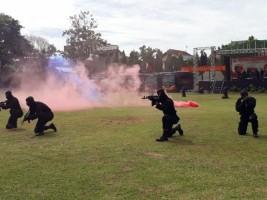 Meriahkan HUT, Bom Diledakkan di Mako Brimob Polda Lampung