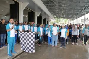 Meriahkan HUT Ke-47 Korpri, Pemkab Way Kanan Gelar Family Fun Walk