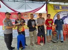 Meriahkan HUT Ke-73 Bhayangkara, Polres Tanggamus-PBI Gelar Lomba Burung Kicau