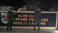 Meski Terbilang Aman, TNI AD Mesuji Tetap Gelar Patroli