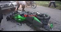Motor Anggota Brimob Kecelakaan di Pulungkencana