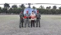 Naik Helikopter dari Way Kanan, Gubernur Ridho Berasa Seperti Martabak Keju