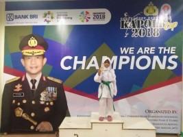 Naila Sabet Medali Emas untuk Lampung di Ajang Kapolri Cup 2018 Cabang Taekwondo