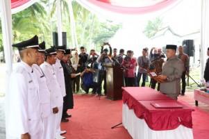 Nanang Ermanto Lantik Empat Penjabat Kepala Desa di Kecamatan Rajabasa