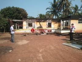 Olah TKP Kebakaran Rumah Warga di Pekurun Udik, Polisi Menduga Konsleting Listrik Penyebabnya