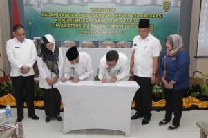 OPD Pemkab Pringsewu dan Pesawaran Ikuti Workshop Sakip dan Reformasi Birokrasi