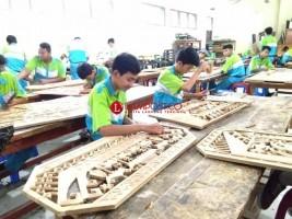 Ornamen Lampung Produk Unggulan SMKN 5 Bandar Lampung