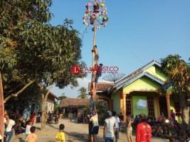 Panjat Pinang jadi Tontonan Menarik Perayaan HUT RI