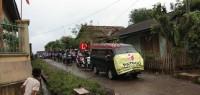 Panwascam Sidomulyo Patroli Tolak Politik Uang Keliling Desa