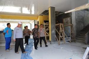Bupati Parosil Tinjau Pembangunan Puskesmas Lumbok Seminung