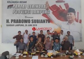 Parpol Koalisi Prabowo-Sandi Lampung Masih Konsolidasi