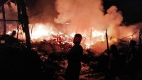 Pasar Kota Terpadu Mesuji Ludes Terbakar