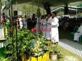 Pastor Se-Lampung Hadiri Ekaristi Tahbisan di Lambu Kibang
