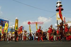 Pawai Budaya Adat Lampung HUT ke-337 Bandar Lampung, Kecamatan Sukabumi Raih Terbaik