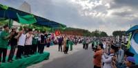 Pawai Ta'aruf Semaraki Hari Santri Nasional di Tubaba