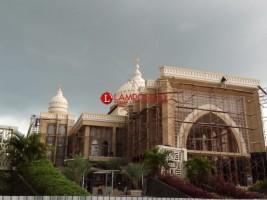 Pekerjaan Masjid Agung Kalianda Terkendala Material