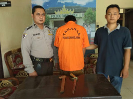 Pelaku Kasus Penganiayaan Diamankan Polsek Pagelaran